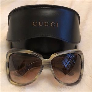 Grey and Taupe GUCCI Sunglasses